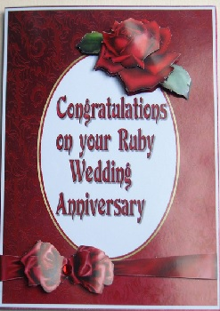 Congratulations On Your Ruby Wedding Anniversary