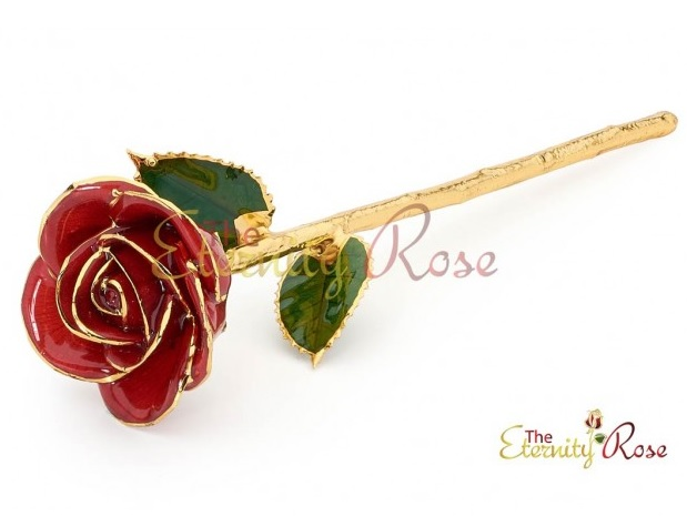 red glazed rose for your wedding anniversary