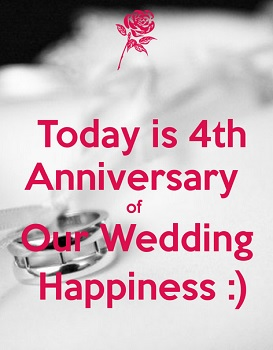 today is our 4thanniversary